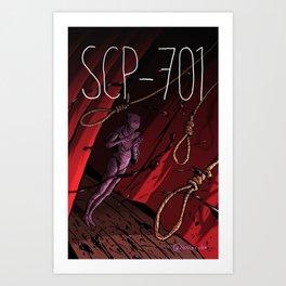 SCP-701 Art Print