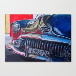 OldBuick Eight Car in Chalk Pastels Canvas Print