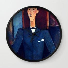 "Amedeo Modigliani ""Jean Cocteau"" Wall Clock"