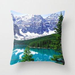 Canadian Wonder: Moraine Lake Throw Pillow