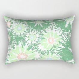 Vintage Green Garden Love Rectangular Pillow