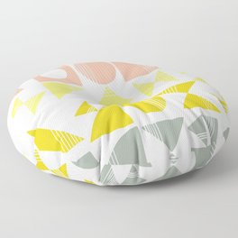 Organic Abstract Shapes in Soft Pastel Colors Floor Pillow