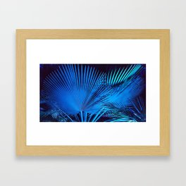 Blue Palms Framed Art Print