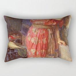 John William Waterhouse - Thisbe Rectangular Pillow