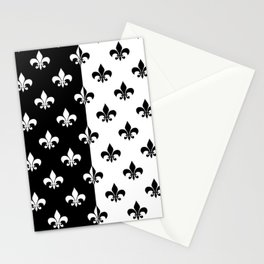 Black & white royal lilies Stationery Cards