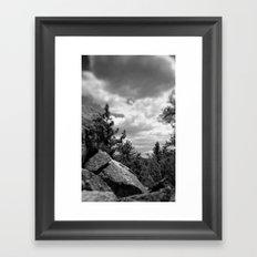 Storm a coming Framed Art Print