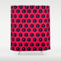lighthouse Shower Curtains featuring Lighthouse by Mehdi Elkorchi
