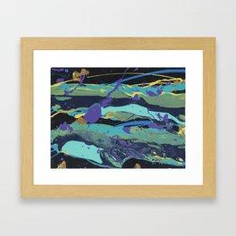 Gold Splatter Framed Art Print