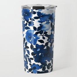 Sophia Floral Blue Travel Mug