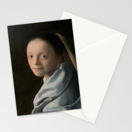 Study of a Young Woman by Johannes Vermeer Stationery Cards