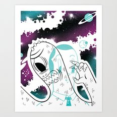 Space Beat 2 Art Print