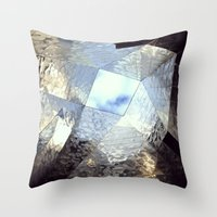 mirror Throw Pillows featuring mirror by Nat Alonso