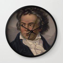 Vintage Portrait of Ludwig van Beethoven (1870) Wall Clock