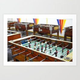 Soccer tables Art Print