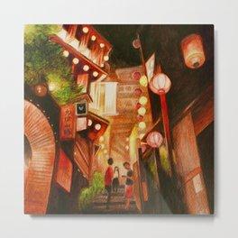 Lanterns town Metal Print