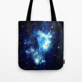 Galaxy NEbula. Teal Turquoise Blue Aqua Tote Bag