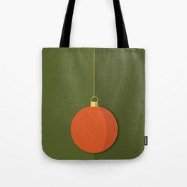 Christmas Globe - Illustration in Green and Orange Tote Bag