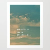 breathe Art Prints featuring Breathe by ALLY COXON