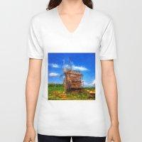 ukraine V-neck T-shirts featuring My Ukraine ^_^ by Julia Kovtunyak