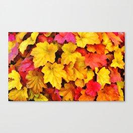 Fallen autumn leaves Canvas Print