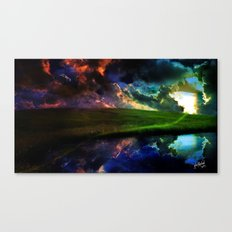 Moody Sunset Canvas Print