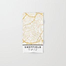 SHEFFIELD ENGLAND CITY STREET MAP ART Hand & Bath Towel