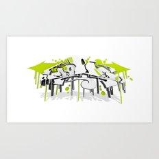 3D GRAFFITI - SWEED Art Print