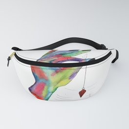 colorful hand holding pendulum Fanny Pack