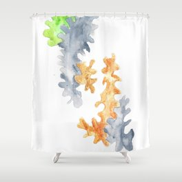 Matisse Inspired   Becoming Series    Autumn Shower Curtain