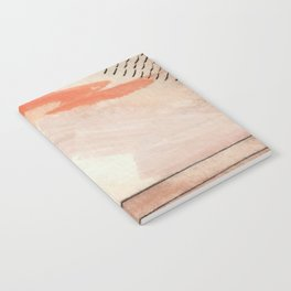 Aly [2] : minimal | pinks | white | black | mixed media | ink | abstract | watercolor | wall art Notebook