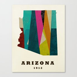 arizona state map modern Canvas Print