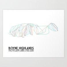 Boyne Highlands, MI - Minimalist Trail Art Art Print