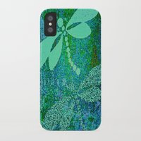 dragonfly iPhone & iPod Cases featuring Dragonfly  by Saundra Myles