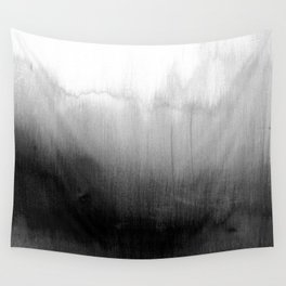 Modern Black and White Watercolor Gradient Wall Tapestry