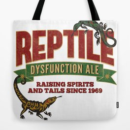 Reptile Dysfunction Ale - Raising Spirits & Tails - Parody Beer Brand - Reptile - Adult Humor Tote Bag