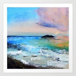 Colourful Seascape Art Print