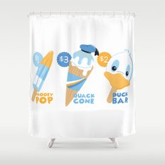 Ice Cream Duck Treats Shower Curtain