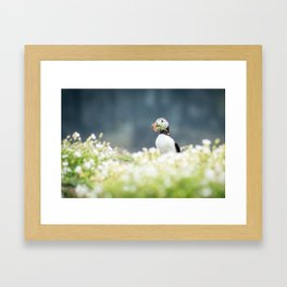 You brought me flowers Framed Art Print