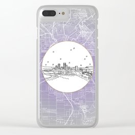 Adelaide, Australia City Skyline Illustration Drawing Clear iPhone Case