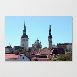 Old Tallinn Skyline Canvas Print