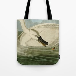Trumpeter swan John James Audubon Tote Bag