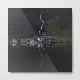 River that vanishes (Fjord) Metal Print