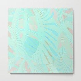 Swirling Palm Tropical Metal Print