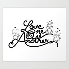 Love One Another Art Print