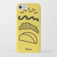 taco iPhone & iPod Cases featuring Taco Puzzle  by Rachel Peck