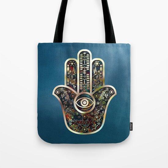 Hamsa Mosaic Tote Bag