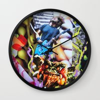 vegetable Wall Clocks featuring Vegetable Gremlin by John Turck