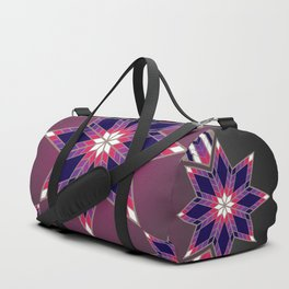 Morning Star Circle (Purple) Duffle Bag