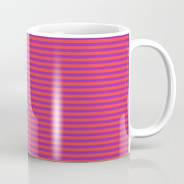 Even Horizontal Stripes, Red and Purple, XS Coffee Mug