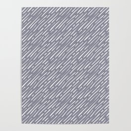 Anchor, brush strokes, minimal, diagonal lines, lines, mid century, abstract, pattern Poster